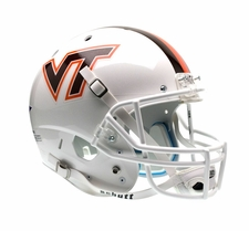 Virginia Tech Hokies White Schutt XP Full Size Replica Helmet