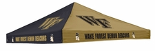 Wake Forest Demon Deacons Black / Gold Logo Tent Replacement Canopy
