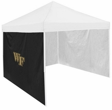 Wake Forest Demon Deacons Black Side Panel for Logo Tents
