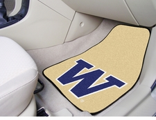 Washington Huskies 2-Piece Carpeted Car Mats Front Set
