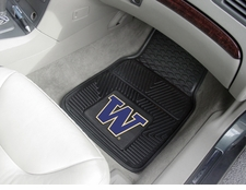 Washington Huskies 2-Piece Heavy Duty Vinyl Car Mat Set