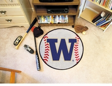 "Washington Huskies 27"" Baseball Floor Mat"