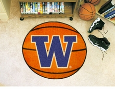 "Washington Huskies 27"" Basketball Floor Mat"