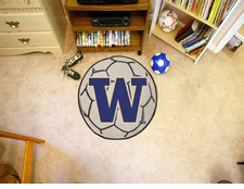 "Washington Huskies 27"" Soccer Ball Floor Mat"