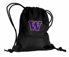 Washington Huskies Black String Pack / Backpack