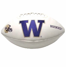 Washington Huskies Full Size Signature Embroidered Football
