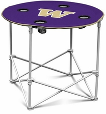 Washington Huskies Round Tailgate Table