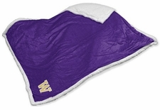Washington Huskies Sherpa Blanket