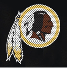 Washington Redskins 12 x 12 Die-Cut Window Film Decal
