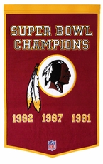 Washington Redskins 24 x 36 Wool Dynasty Banner