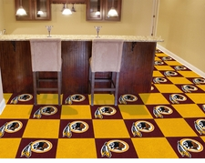 "Washington Redskins Carpet Tiles - 20 18"" x 18"" Tiles"