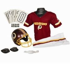 Washington Redskins Deluxe Youth / Kids Football Uniform Set