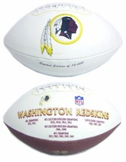 Washington Redskins Embroidered Autograph Signature Series Football