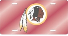 Washington Redskins Laser Cut Red License Plate