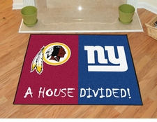 Washington Redskins - New York Giants House Divided Floor Mat