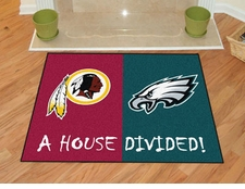 Washington Redskins - Philadelphia Eagles House Divided Floor Mat