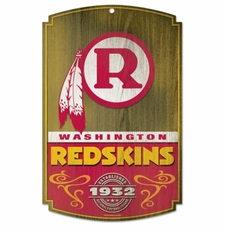 Washington Redskins Wood Sign - Logo