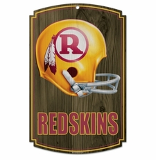 Washington Redskins Wood Sign - Throwback