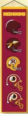 Washington Redskins Wool 8x32 Heritage Banner