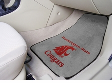 Washington State Cougars 2-Piece Carpeted Car Mats Front Set