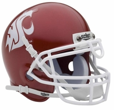 Washington State Cougars Alt Red Schutt Authentic Mini Helmet