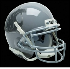 Washington State Cougars Gray w/ Gray Logo Schutt Authentic Mini Helmet