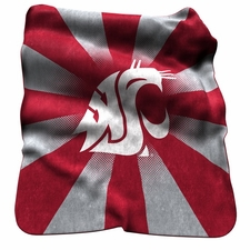 Washington State Cougars Raschel Throw