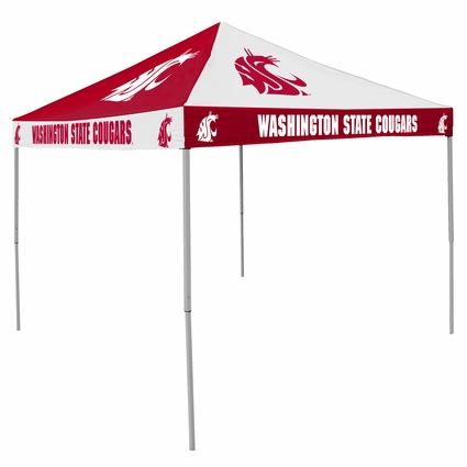 Washington State Cougars Red / White Checkerboard Logo Canopy Tailgate Tent