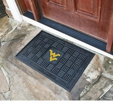 West Virginia Mountaineers 19x30 Medallion Door Mat