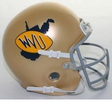 West Virginia Mountaineers 1973-78 Schutt Throwback Mini Helmet