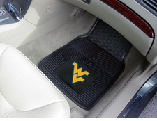 West Virginia Mountaineers 2-Piece Heavy Duty Vinyl Car Mat Set