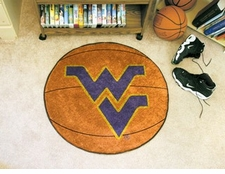"West Virginia Mountaineers 27"" Basketball Floor Mat"