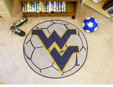 "West Virginia Mountaineers 27"" Soccer Ball Floor Mat"