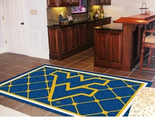 West Virginia Mountaineers 5'x8' Floor Rug