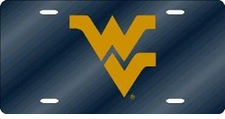 West Virginia Mountaineers Blue Laser Cut License Plate
