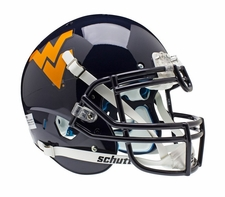 West Virginia Mountaineers Blue Schutt XP Full Size Replica Helmet