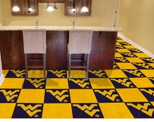 West Virginia Mountaineers Carpet Tiles - 20 18x18 Square Tiles