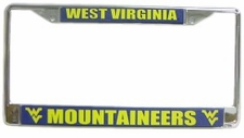 West Virginia Mountaineers Chrome License Plate Frame