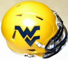 West Virginia Mountaineers Gold Riddell Speed Mini Helmet