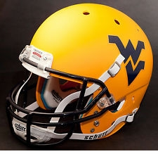 West Virginia Mountaineers Gold Schutt XP Full Size Replica Helmet