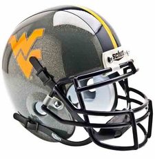 West Virginia Mountaineers Gray Schutt Authentic Mini Helmet