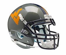 West Virginia Mountaineers Grey Schutt XP Full Size Replica Helmet