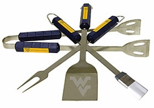 West Virginia Mountaineers Grill BBQ Utensil Set