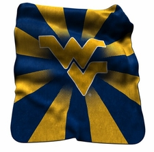 West Virginia Mountaineers Raschel Throw
