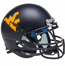 West Virginia Mountaineers Blue Schutt Authentic Mini Helmet