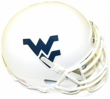 West Virginia Mountaineers White Schutt XP Authentic Mini Helmet