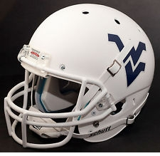 West Virginia Mountaineers White Schutt XP Full Size Replica Helmet