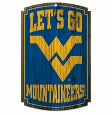West Virginia Mountaineers Wood Sign