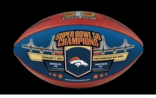 Wilson Official Leather NFL SUPER BOWL 50 Full Size Game Football - Denver Broncos Super Bowl Champs