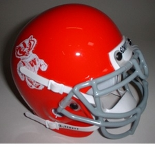 Wisconsin Badgers 1969 Schutt Throwback Mini Helmet